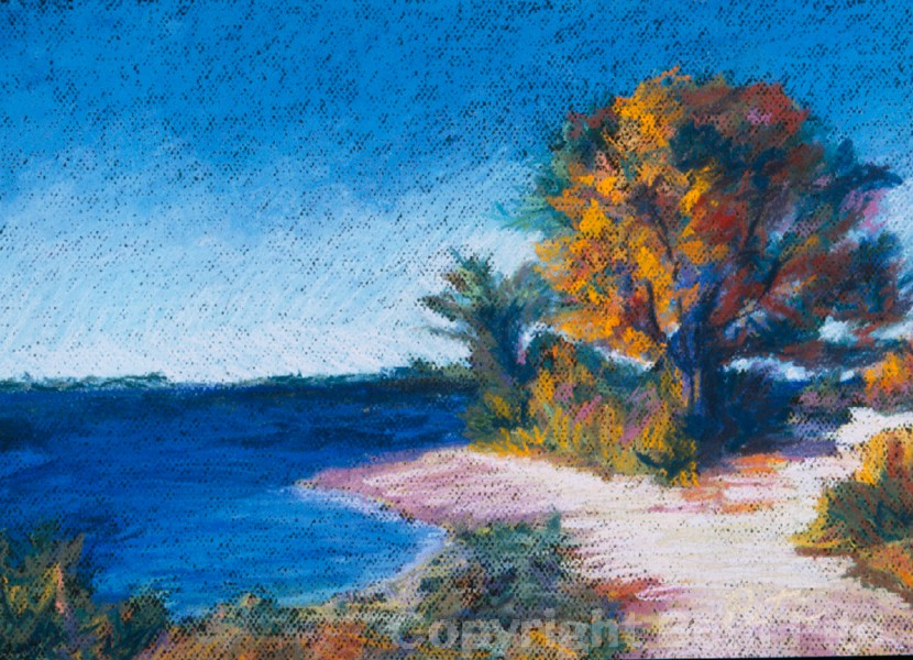 Bluff Point III<div>SOLD A collector grabbed this painting of a favorite shoreline spot when she saw it in an email invitation to a show.</div>