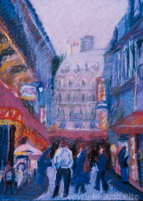 "Left Bank Paris<div>Pastel and gouache on prepared board, 15"" x 11"" (22"" x 18""), $690. My favorite city in the whole world – I could wander around Paris for days. See it at Arts Unique, in Avon, CT</div>"