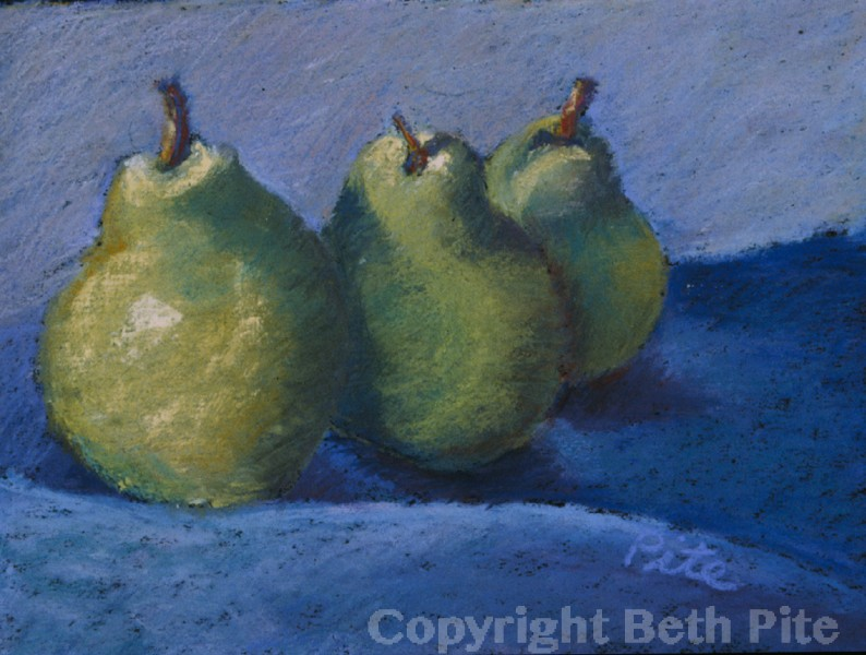Pears<div>SOLD It's always very flattering when an artist or designer admires and buys my work.</div>