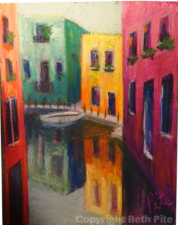 Venice Reflections<div>SOLD. Every alley that doesn't dead end seems to cross a narrow canal and a collector decided this was the perfect gift for an aunt with whom she had traveled to Venice.</div>