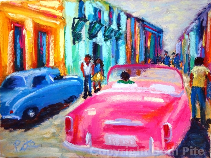 Havana Pink<div>SOLD. Every time we walked around a corner in Old Havana we encountered cars like this, and I love them!</div>